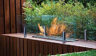 Twin Feet Fixings Fireplace Screen - In-Situ Image by EcoSmart Fire