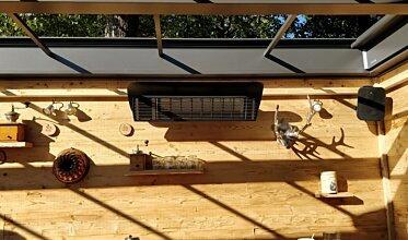 Weathershield 3 Black HEATSCOPE® Accessorie - In-Situ Image by Heatscope Heaters