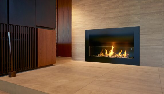 Private Residence -  Fireplace Insert by MAD Design Group