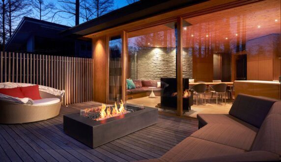 Private Residence - Wharf 65 Fire Pit Table by EcoSmart Fire
